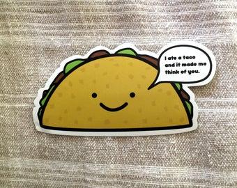 Taco Vinyl Sticker