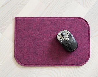 Felt mousepad, fuchsia 4mm