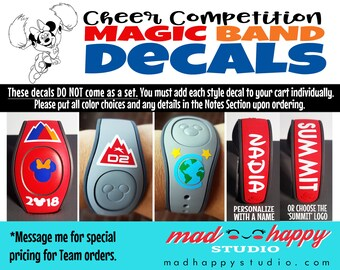 Cheer Competition Magic Band Decals