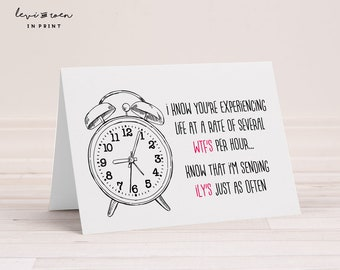 """Infertility Card: """"Several WTF's per hour"""" Infertility Humor & Encouragement - 5""""x7"""" Folded (Blank Inside) - Envelope Included"""