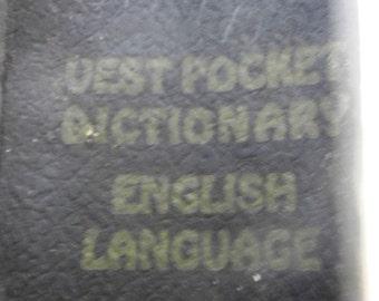 1930s Websters Vest Pocket Dictionary