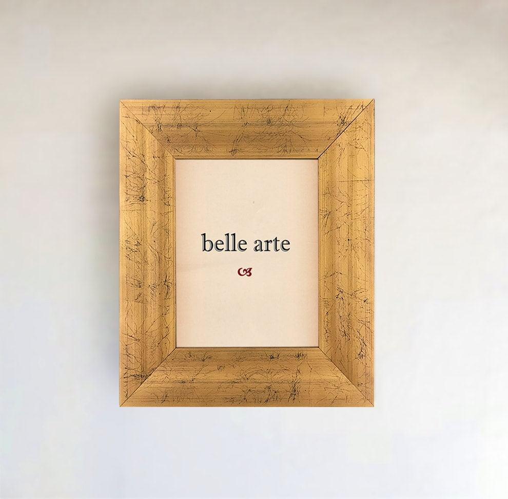 Gold Wood Picture Frame Sizes 4x6 5x7 8x8 8x10 11x14
