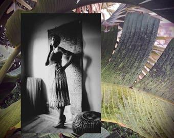 INEZ High Waisted Pencil Skirt // Purple Gold // African Wax Print