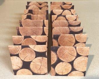 Mini Cards 16 Log Ends - 3 x 3 wood