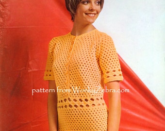 Vintage Crochet Pattern PDF 152 Tangerine Dream from WonkyZebra