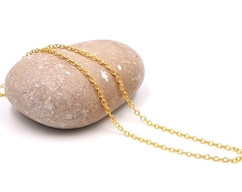 5 m chain golden colored thin 2mm chain