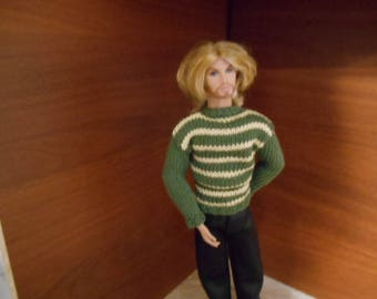 Sweater for 1/6 Homme Fashion Royalty, Dynamit Boys, Ken, CI, Jem etc