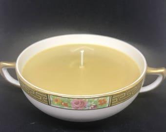 Amaretto Nog Vintage Tea Cup Candle