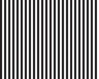 ON SALE Riley Blake Black and White 1/4 Inch Stripe