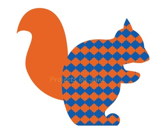 Squirrel applique template | PDF applique pattern | applique template