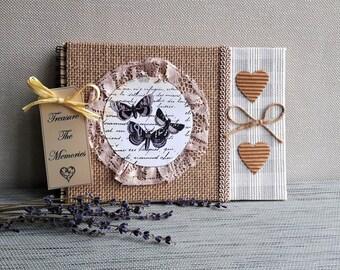 Handmade Personalised Photo Album, Wedding Guest Book, Memory book, Scrapbook album, Personalised Wedding album, Landscape album