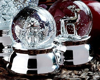 Precious Snow Ball-angel-silver plated and tarnished-6.5 cm-great snow globe Angel Metal