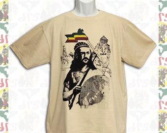 Tewodros II [Made in ETHIOPIA]T-Shirt  (roots reggae dub rastafari africa ethiopia jamaica Haile Selassie I )