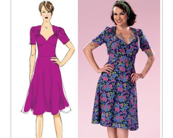 Butterick Sewing Pattern B6380 Misses' Sweeheart-Neckline Dress with Gathered Bodice