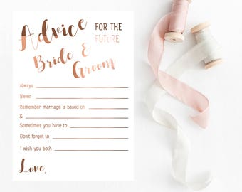 Copper Foil Wedding Cards // Advice for the future Mr & Mrs // Forms to fill out // Guest cards // Place card settings at wedding