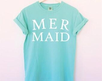 Mermaid Shirt. Mermaid Tee. Summer Top. Vacation Shirt. Mermaid Birthday. Mermaid Party. Tumblr Shirt. Graphic Shirts. Mermaid. Graphic Tee