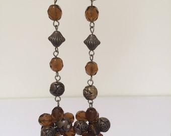 Original 1990s Erickson Beamon style clip on drop earrings
