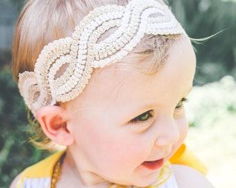 Baby headband, newborn headband, lace headband, Valentine's day headband, wedding headband, black headband, boho headband, sparkling lilac