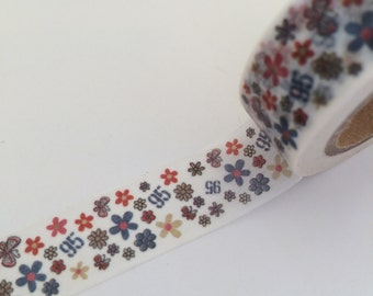 15mm x 10 m washi masking tape - colorful flower (LTP)