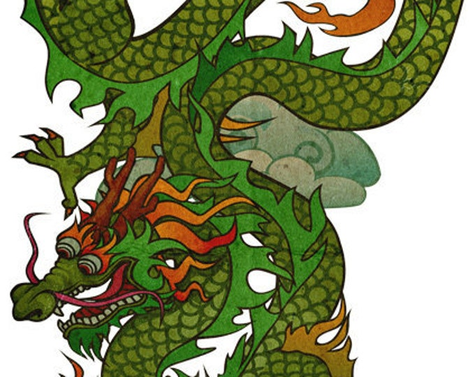 chinese dragon clip art, dragon tattoo, tattoo art, royalty free, INSTANT DOWNLOAD
