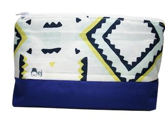 Cosmetic Bag - Retro Blue