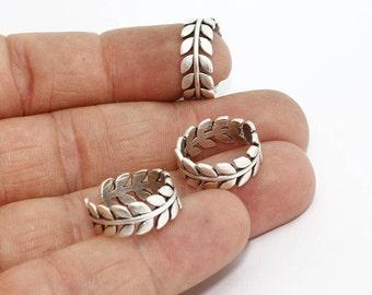 Antique Silver Leaf Ring, Cute Leaf Rings, Adjustable Rings , Flower Rings, Antique Silver, AG58