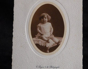Photography old child by Constant Peigné workshop Photographer | FRANCE 1800 vintage photograph