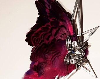 Real taxidermy bird wing alternative occasion fascinator