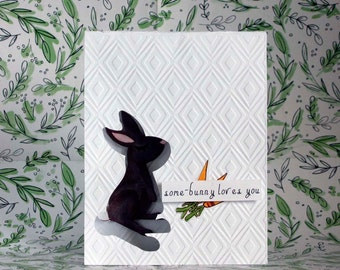 SOME_BUNNY LOVES YOU Greeting Card 4.25 x 5.5