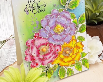 """flowers mother's day card (5.5"""" X4.25"""")"""