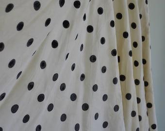 AS IS 1950s Taffeta Polka Dot Circle Skirt sz. s