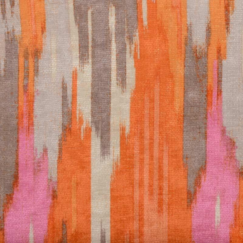 Modern Orange Pink Velvet Upholstery Fabric Abstract Velvet