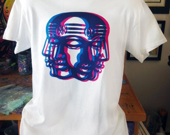 Anaglyph Dreamer screen print t-shirt