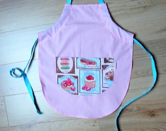 Pink pastries child apron