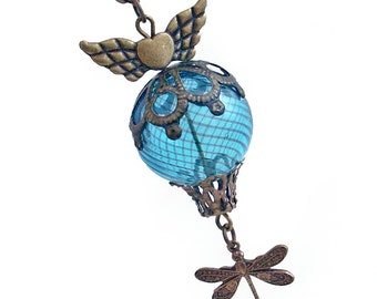 Whimsical Flight - Hot Air Balloon Necklace Jewelry Jewellery