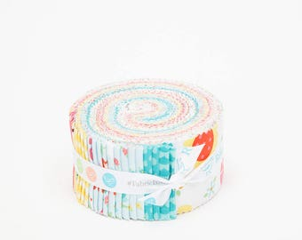 SALE 2.5 inch strips BLOOM Where You Are PLANTED Jelly Roll fabric by Riley Blake Lori Whitlock 40 strips