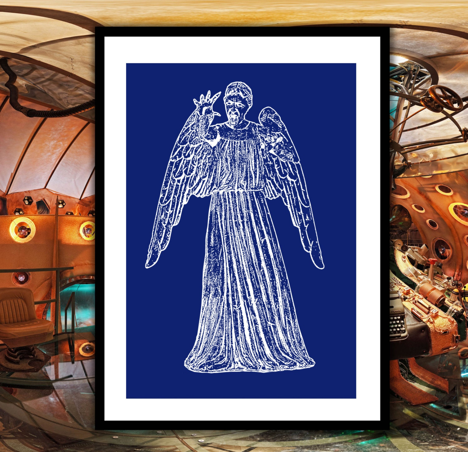 Doctor who weeping angel patent dr who weeping angel poster doctor who weeping angel patent dr who weeping angel poster weeping angel blueprint dalek print doctor who wall art doctor who decor malvernweather Gallery