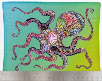Octopus, Sue Coccia, Microfiber Cleaning Cloth Wipes for Eye Glasses, Cell Phones, Sunglasses, Electronics and More!