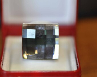 Swarovski Checkerboard Cut Ring Size 8 3/4