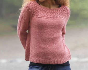 Knitted sweater 100% alpaca