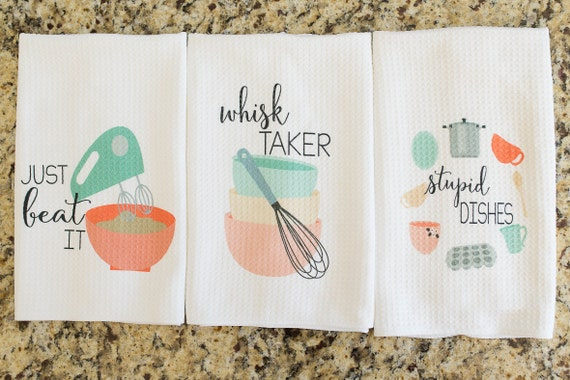 Delightful Unique Kitchen Decor Funny Dish Towel Gift For Bridal