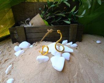 Snake Bracelet single Loose - Ancient Greek snake bracelet''Ófis'' - Handmade BRASS metal gold plated jewel