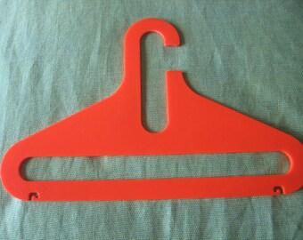 1970s Plastic Hanger,Orange Mod,70s Hanger