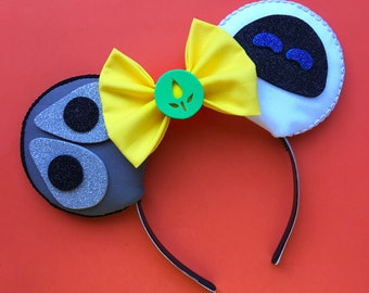 WallE and Eve Mouse Ears, Wall-E Ears, Pixar Inspired Ears