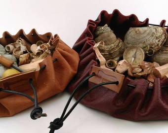 Pattern: Leather bushcraft/possibles pouch two sizes