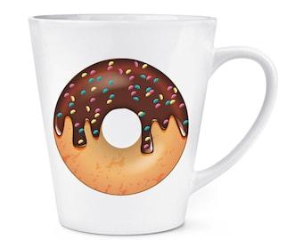 Chocolate Sprinkled Glazed Doughnut 12oz Latte Mug Cup