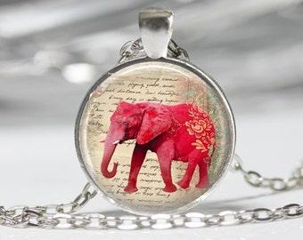 Pink Elephant Neckace Elephant Jewelry