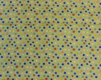 Cuddles Dots Apple Green by Debbie Mumm 100% cotton fabric by SSI