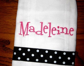 Personalized burp cloth - Fun hospital gift, showers, baby gift. . .let's create one for you
