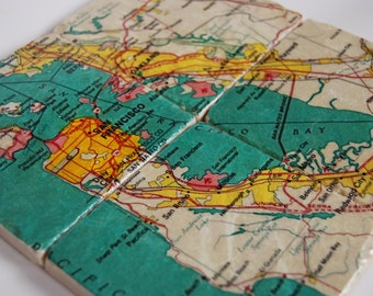 San Francisco map coasters - immediate shipping